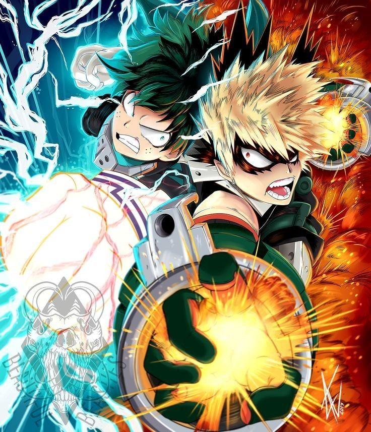 Midoriya or Bakugo?? Hero wallpaper, My hero, Anime