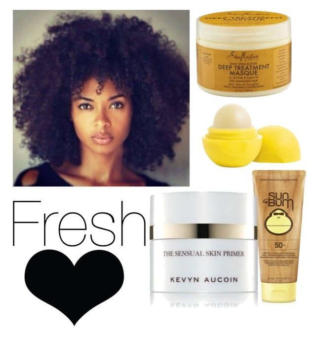 """fresh👄"" by haileypaigesowell on Polyvore featuring SheaMoisture, Eos, Sun Bum, Kevyn Aucoin and Brika"