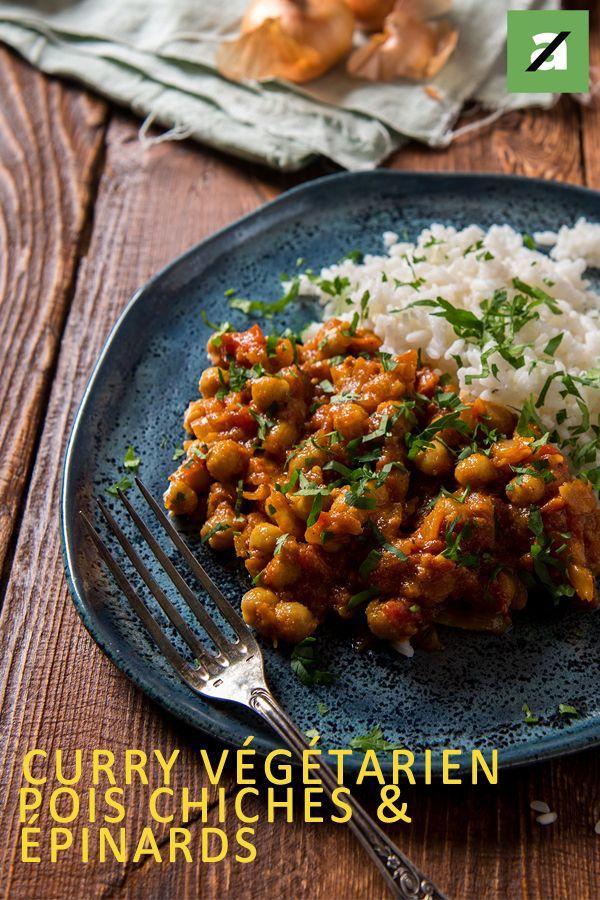 Curry de pois chiches et épinards