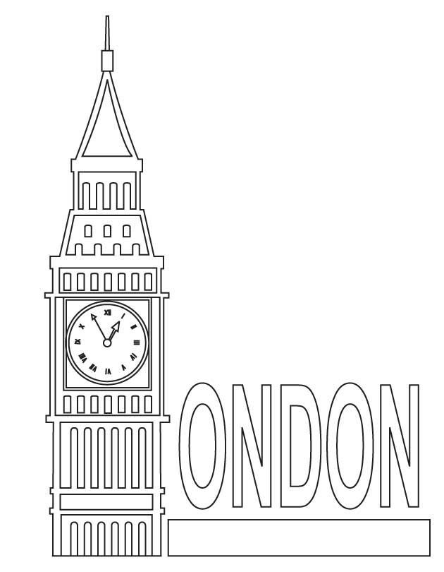 Big Ben Coloring Pages London Big Ben Coloring Page Big Ben