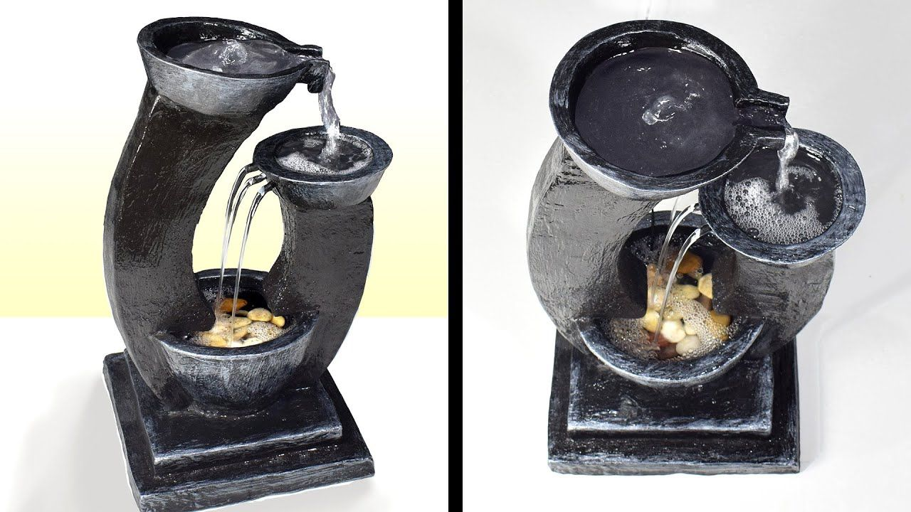 Diy amazing cement tabletop water fountain diy awesome