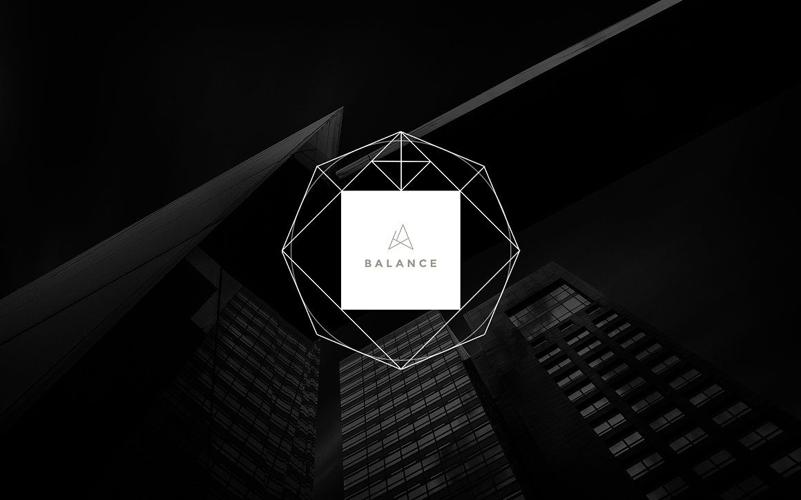 Geometric Shapes Banner Logo Creator