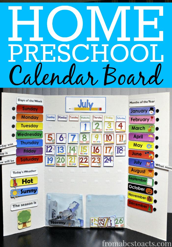 Calendar Ideas For Preschool To Make : Home preschool calendar board templates all kind of