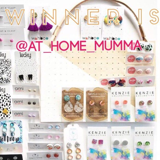 And the winner of the massive $475 giveaway is..... @at_home_mumma!!!!!!! Thanks to EVERYONE who entered - your support for these wonderful Aussie businesses is truly appreciated!