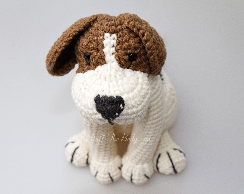 Azor The Beagle Dog Amigurumi Pattern, Puppy Crochet Pattern ...