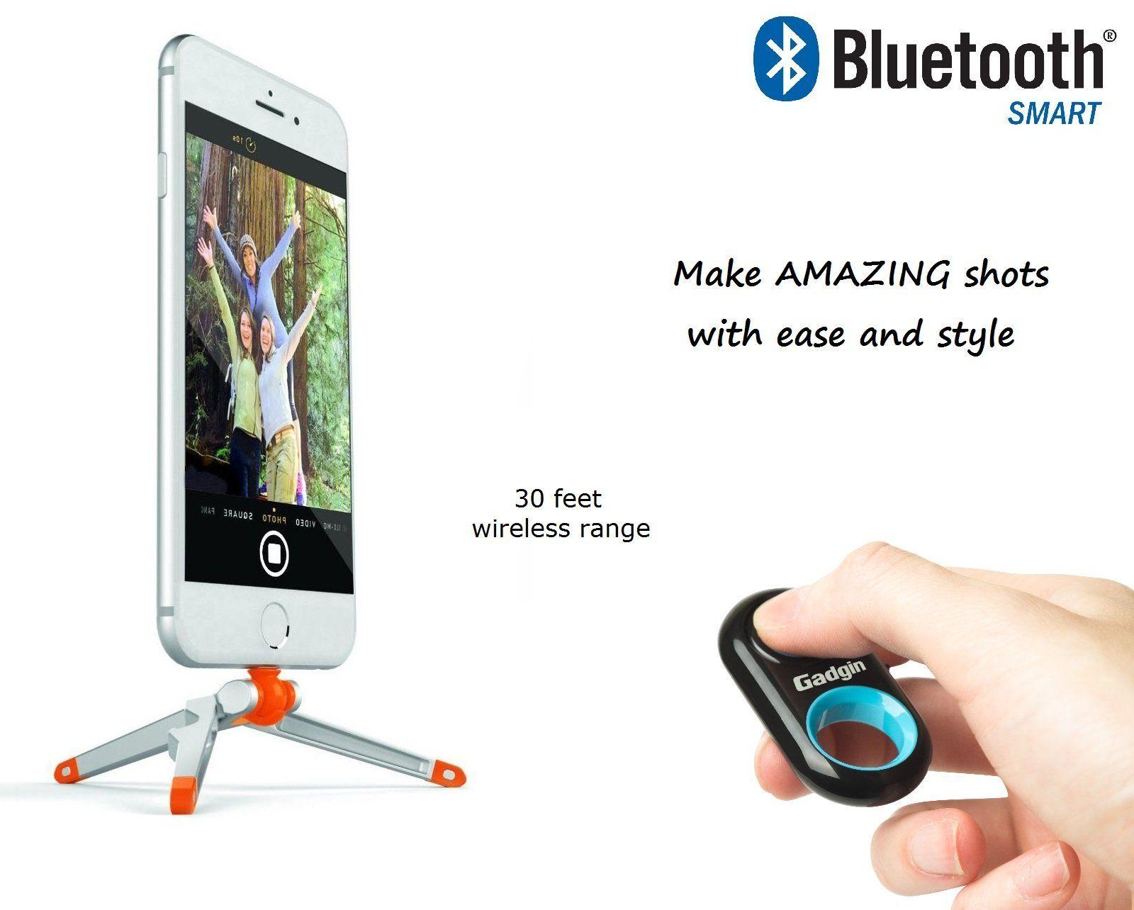 Amazon com: Premium Bluetooth Remote Control Camera Shutter Release