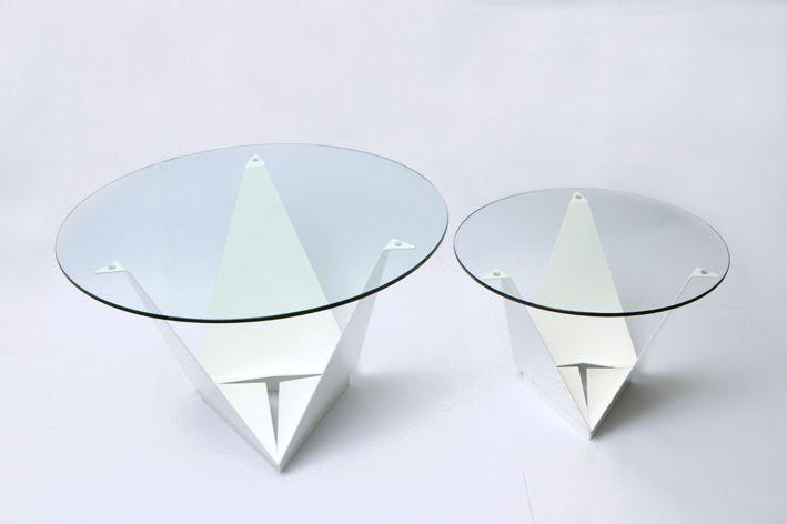 Galería de Prisma + Mesa Origami   SAVIA - 11 Mesas, Origami and Cl - designer couchtisch glas prisma