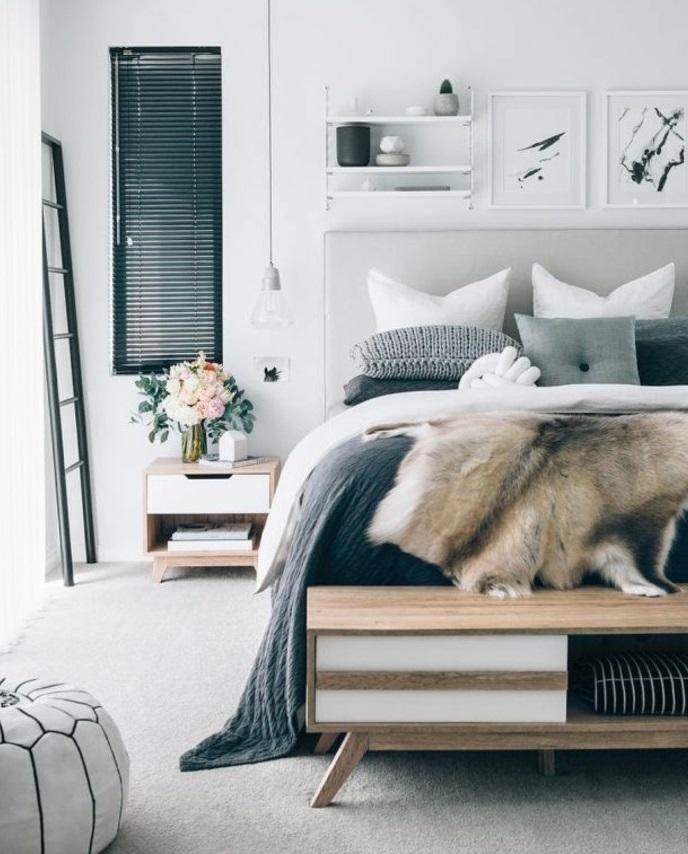 Wohnideen Farben Fur Schlafzimmer Heller Teppichboden Hocker Und