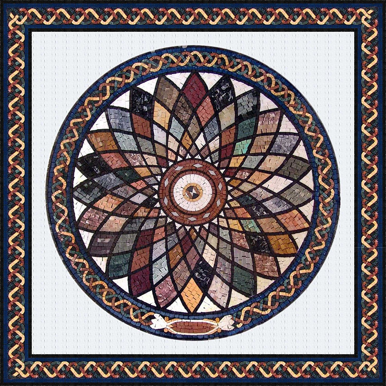 M rmol de piedra mosaico azulejos arte cuadro pared piso for Azulejos de marmol