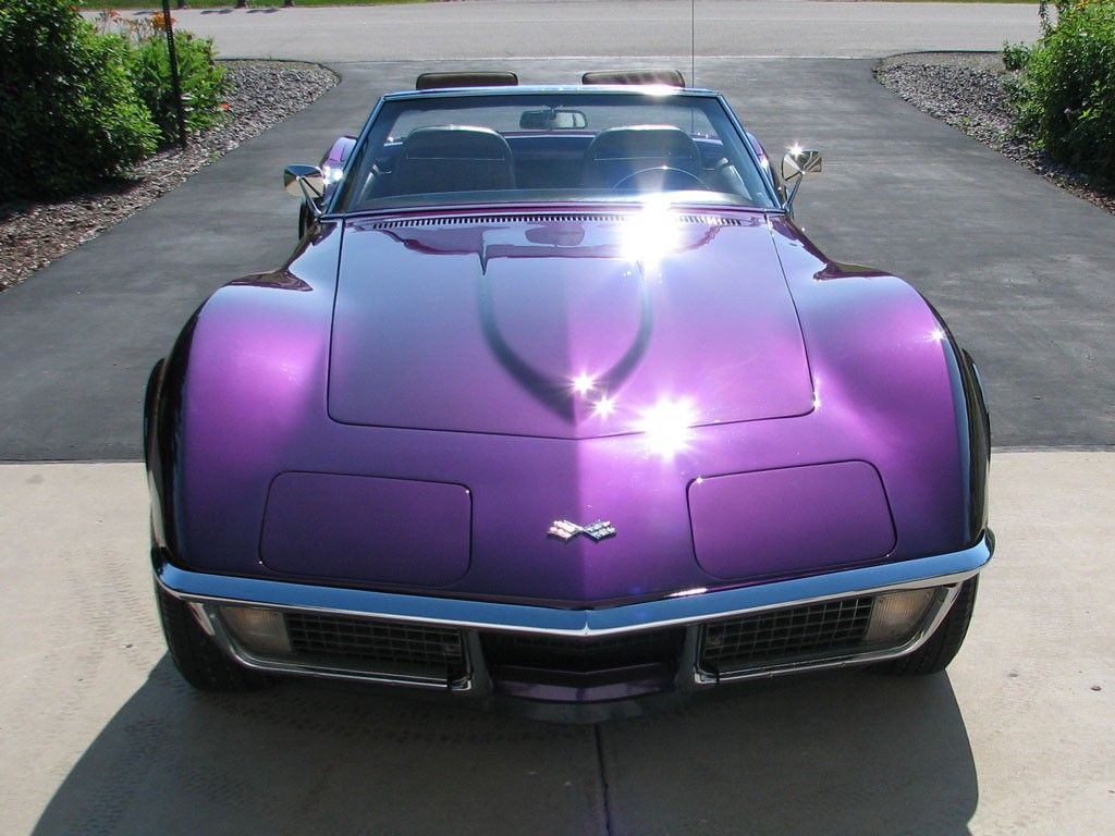 1971 Corvette Convertible In Purple Metallic Now This