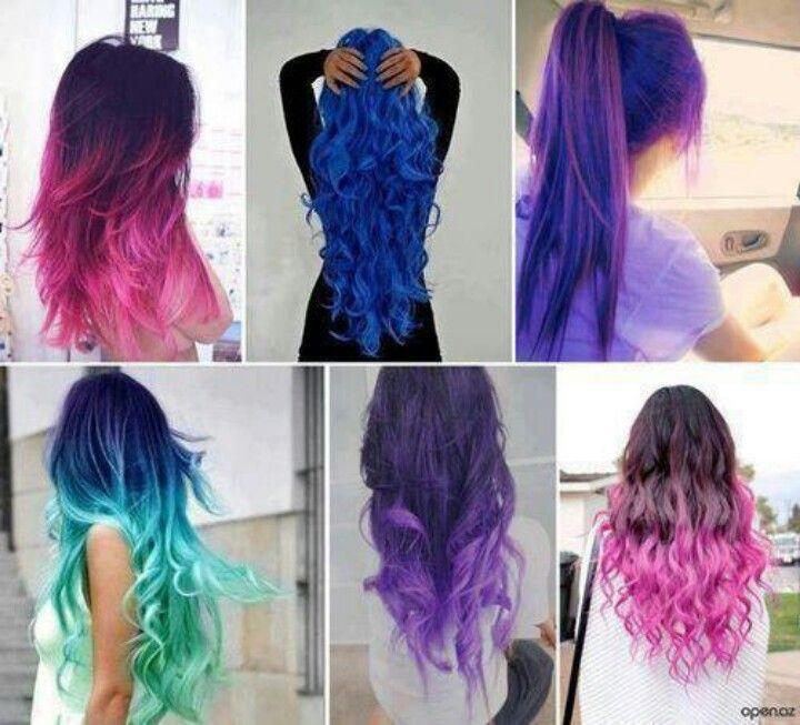 Different Color Hair Cabelo Lindo Cabelo Colorido Cabelos Pintados