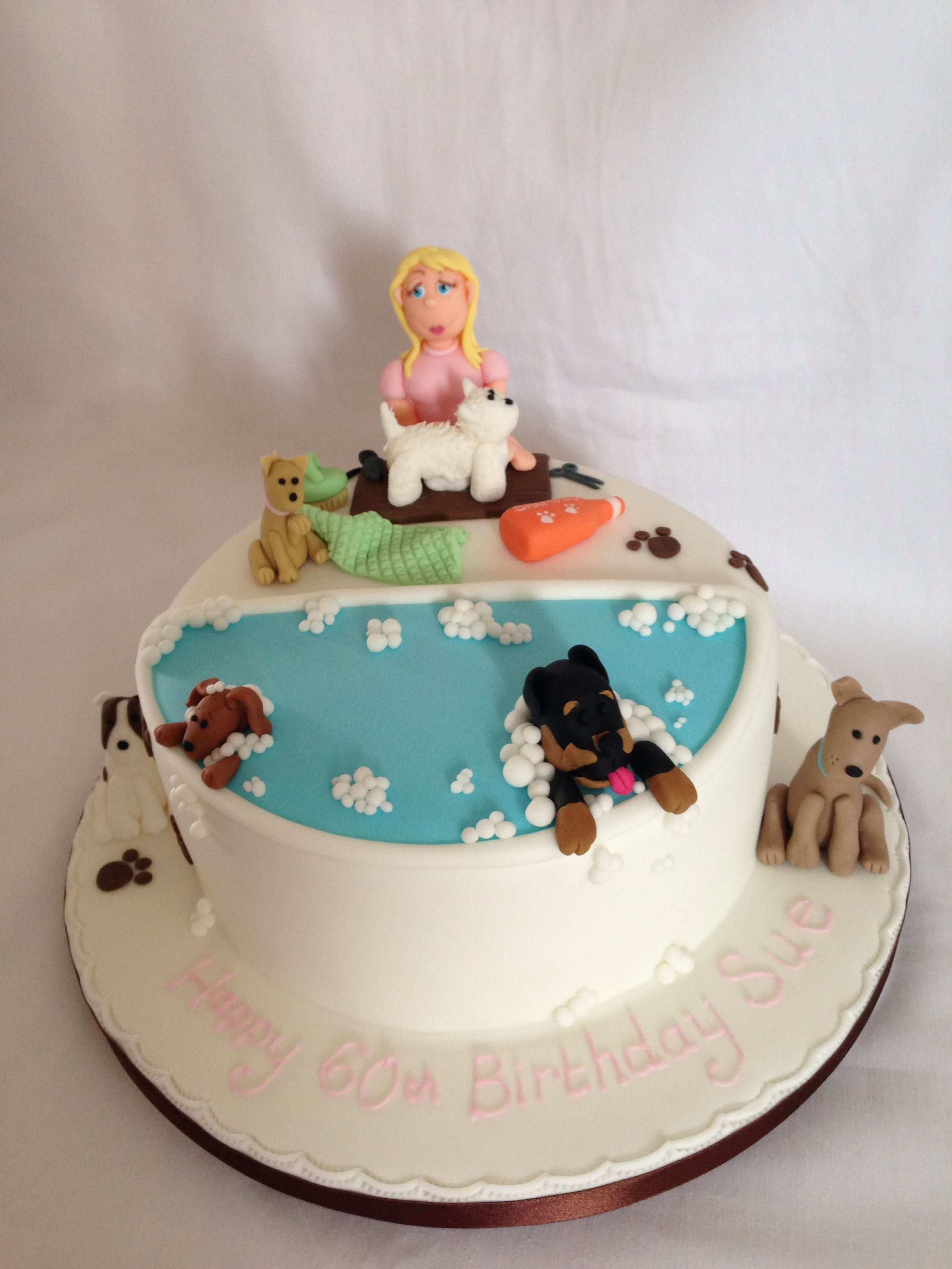 Super Dog Groomers Cake With Images Dog Cakes Dog Grooming Salons Funny Birthday Cards Online Hendilapandamsfinfo