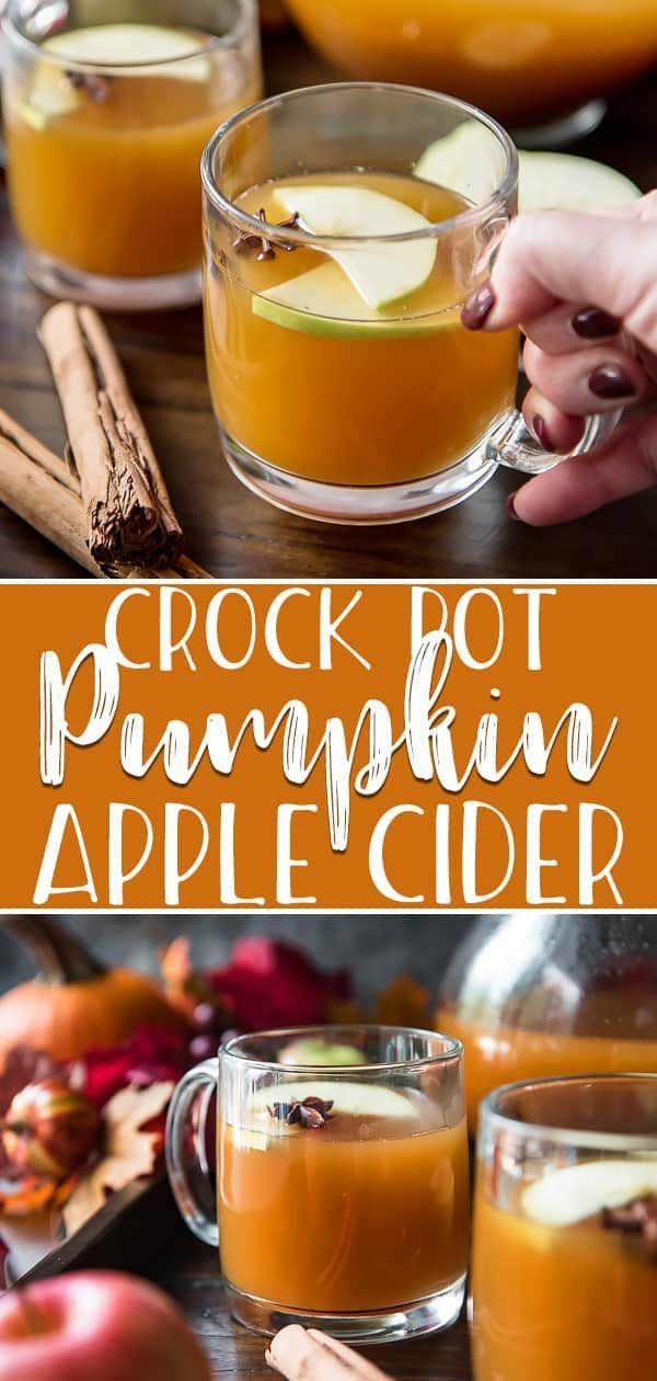 Homemade Crock Pot Pumpkin Apple Cider #falldrinks
