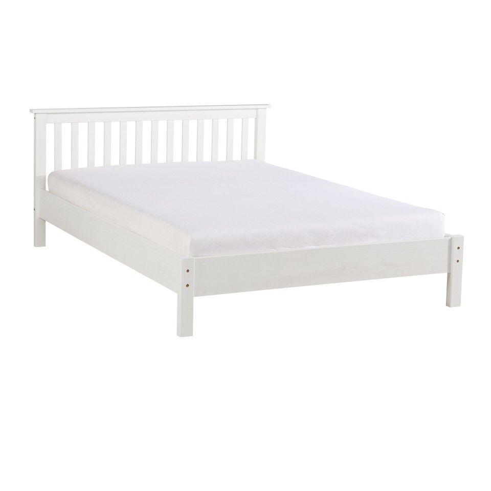 Bett Luis 140x200 Kiefer Weiss Lackiert Schlafzimmermobel Bett Bett 120x200