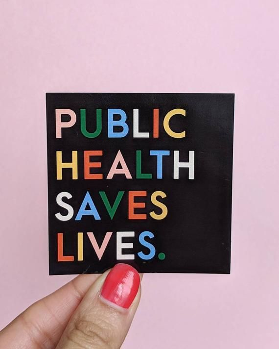 Glossy  Public Health Saves Lives  Modern Vinyl Sticker  epidemiology  science  nurse  lab tec