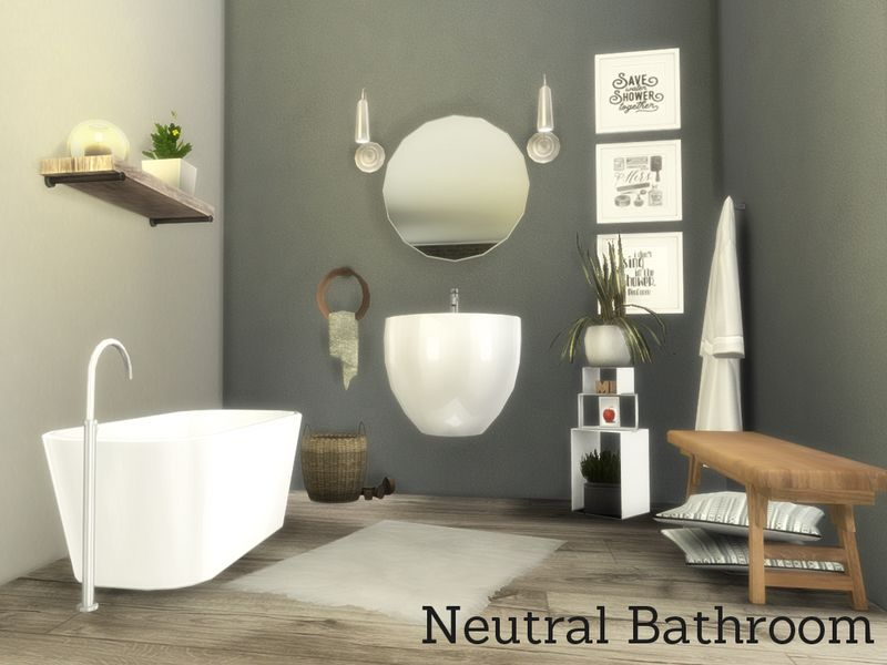 Neutral Bathroom Set Found In Tsr Category Sims 4 Sets