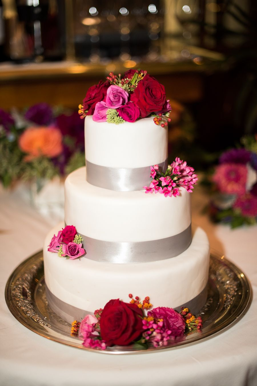 Cake with Fuchsia Flowers | photography by http://www.brklynview.com/