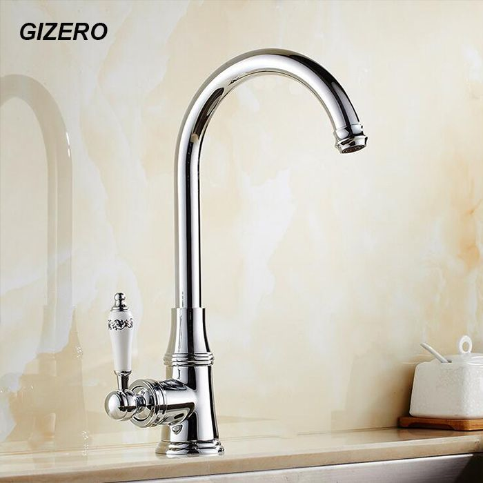 Luxury European Style Chrome Polished Crystal Faucet Swivel Spout ...