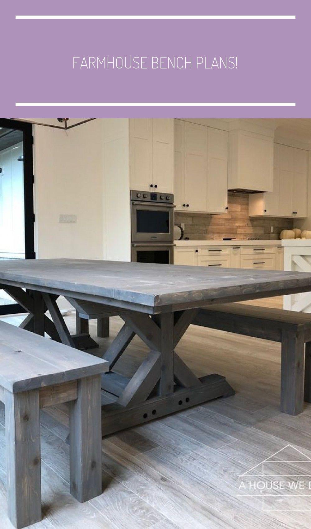 How To Build A Farmhouse Table And Benches Farmhouse Table Plans In 2020 Farmhouse Bench Plans Build A Farmhouse Table Farmhouse Bench