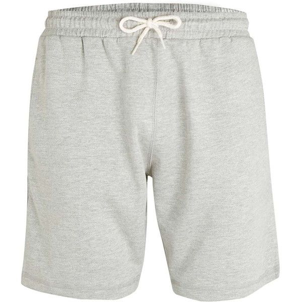 TOPMAN Light Grey Loungewear Shorts (82 BRL) ❤ liked on Polyvore ...