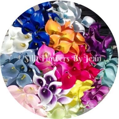 Real Touch Calla Lily Single Sample White by SilkFlowersByJean