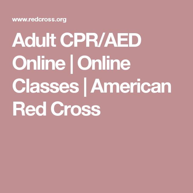 Adult Cpraed Online Online Classes American Red Cross