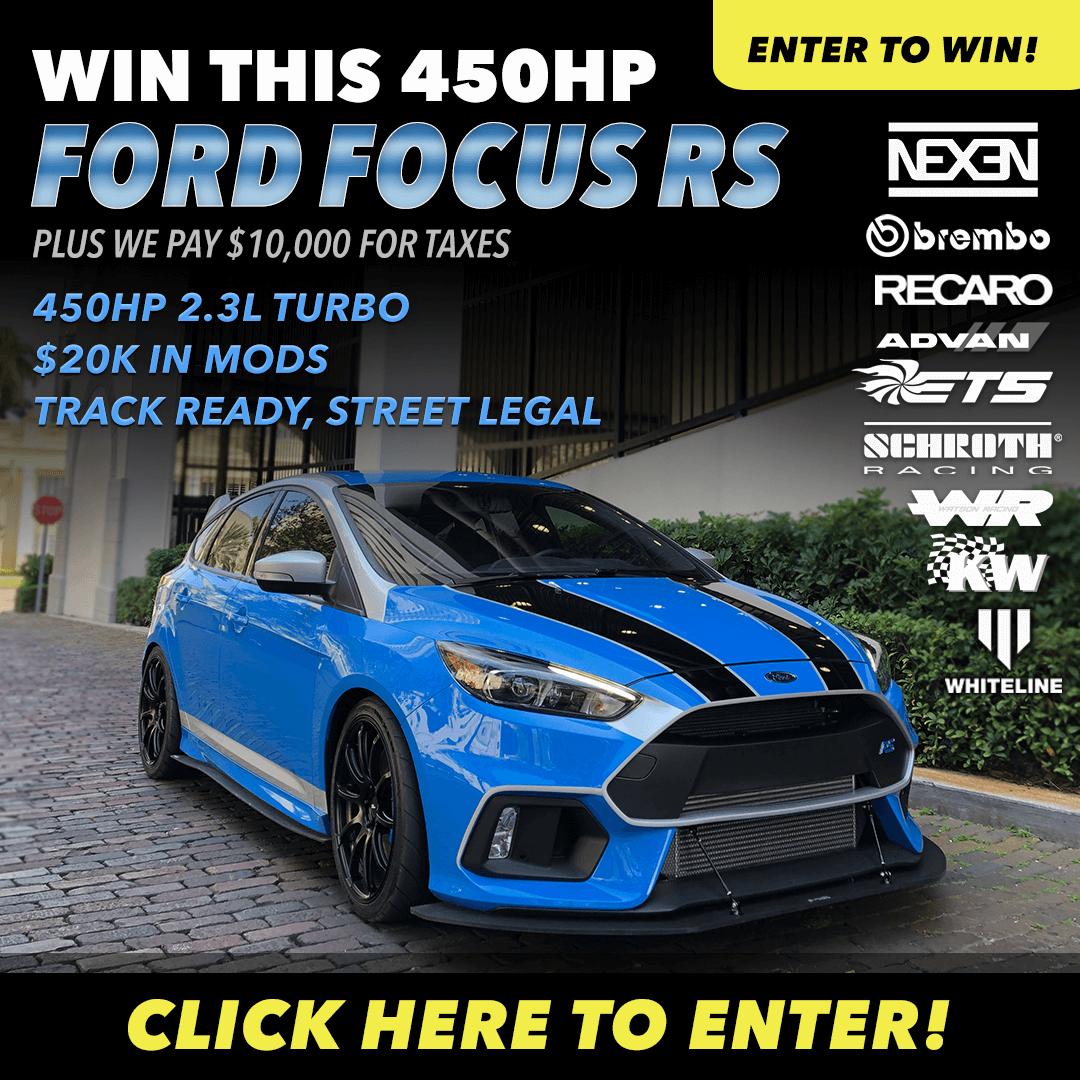 Focus RS Dream Giveaway Dream giveaway, Focus rs, Ford focus