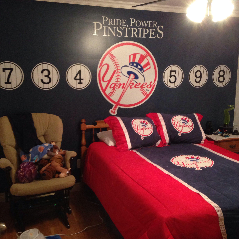Yankees Theme Room Yankee Room Yankee Bedroom Bedroom Themes