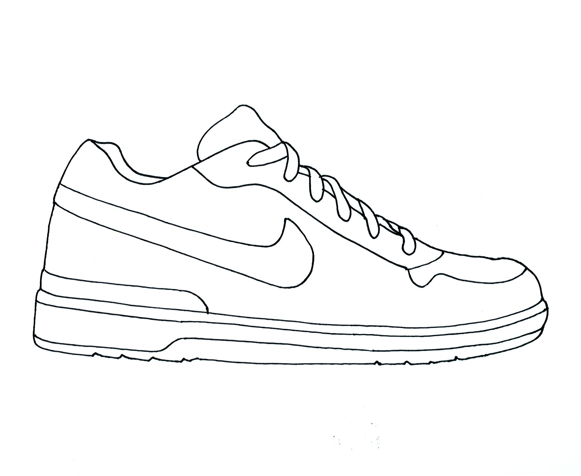 Tennis shoes coloring pages - Nike Air Jordan Clipart