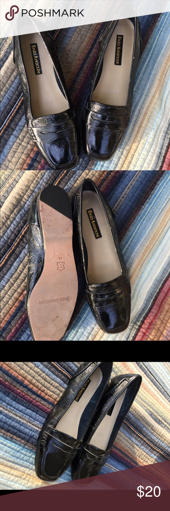 Enzo Angiolini patent leather loafers black Looking for *the* perfect little black loafers? Gorgeous, very gently pre loved, patent leather black loafers. Gorgeous condition! Size 9. Enzo Angiolini Shoes Flats & Loafers