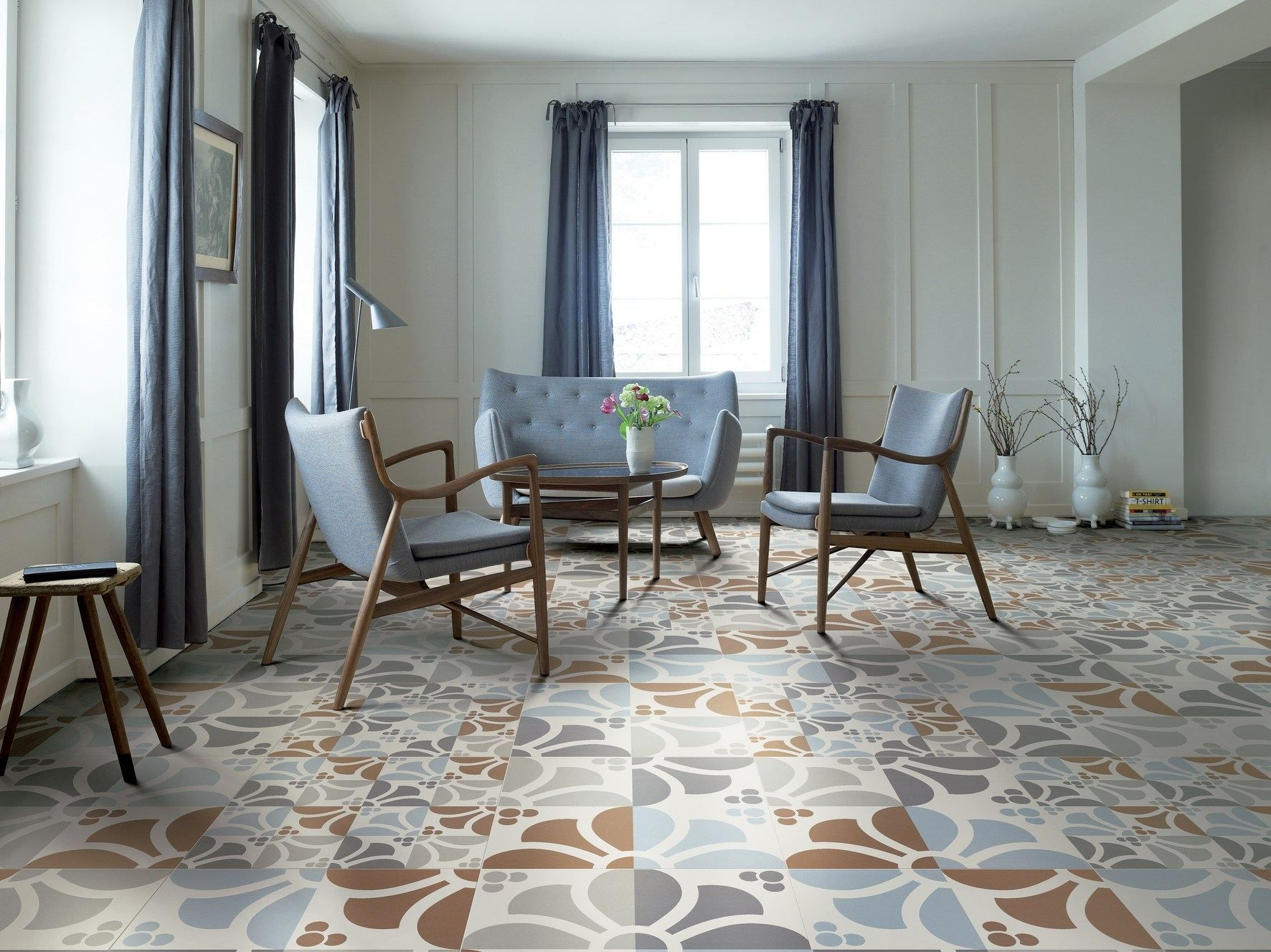Pavimento in gres porcellanato flower by ceramiche refin design