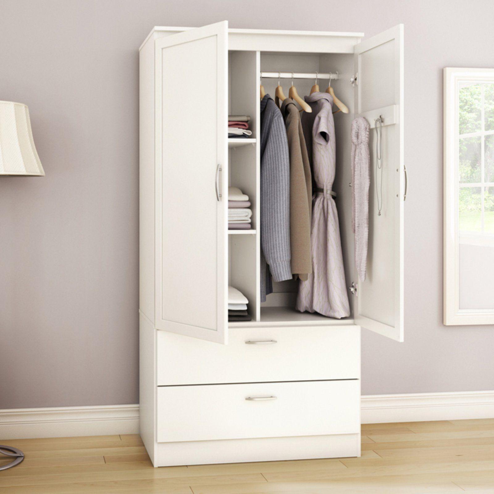 Acapella Wardrobe Armoire By South Shore In 2020 Armoire Storage Spaces Master Bedroom Closet