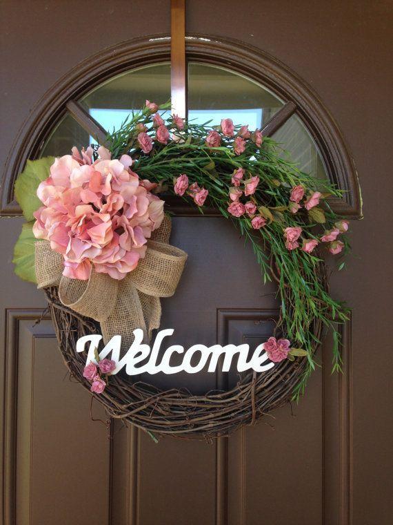 Everyday Wreath Spring Wreath Hydrangea Wreath