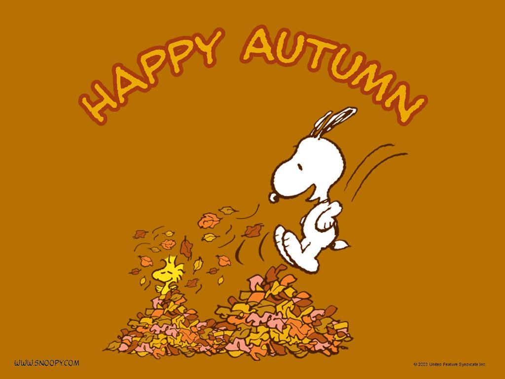 Woodstock quot peanuts quot desktop wallpaper - Wallpaper Of Snoopy Happy Autumn For Fans Of Autumn