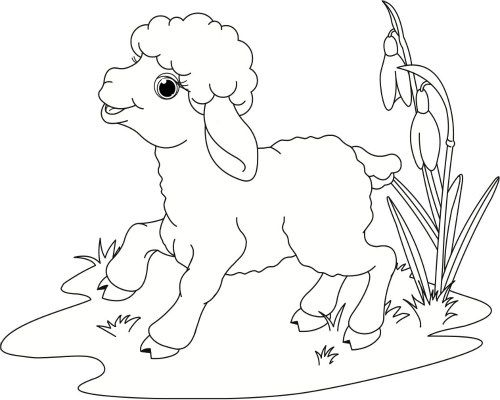 spring coloring pages for preschool spring lamb coloring book page and spring song for kids - Coloring Pages Childrens Books