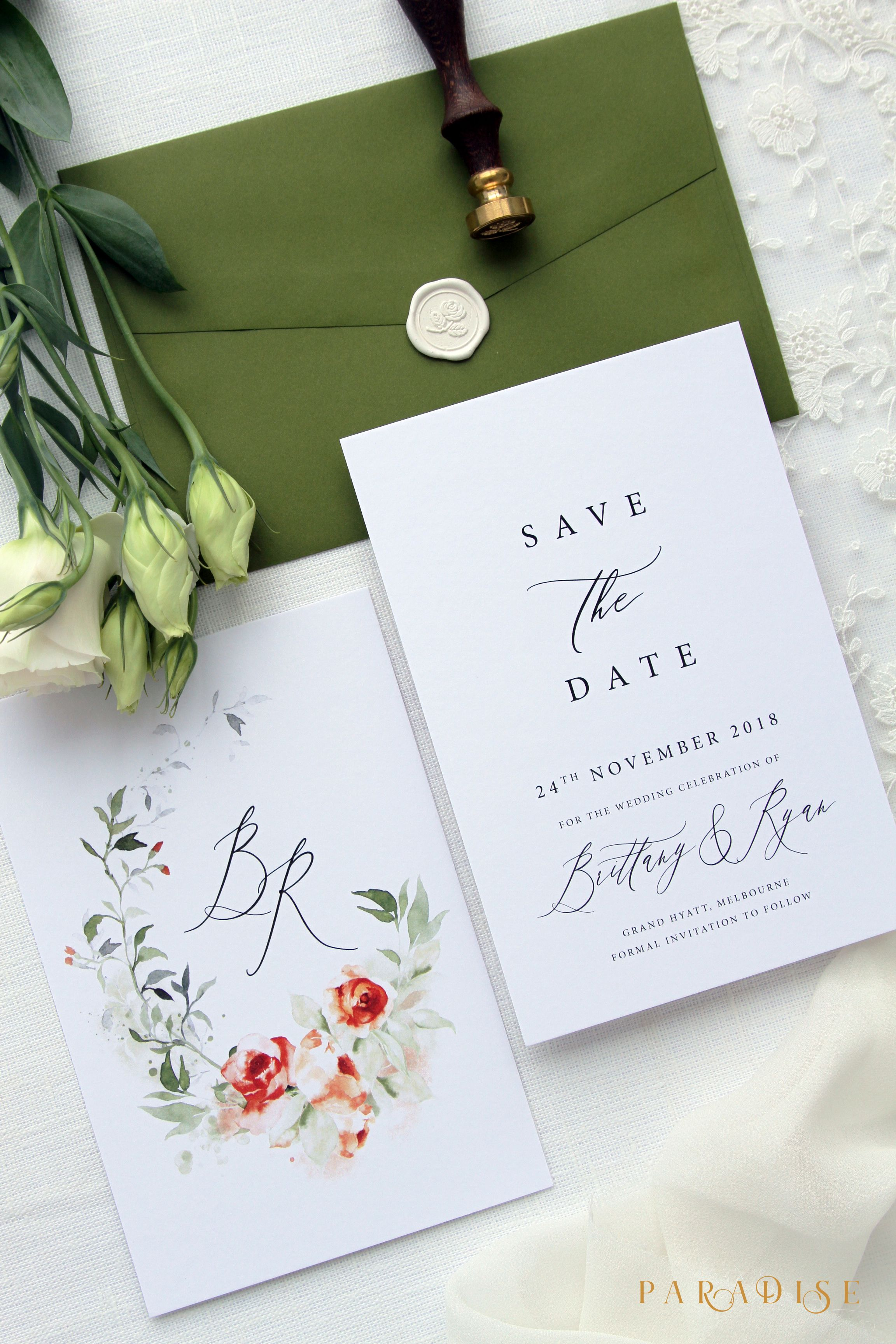 Br Save The Date Cards Calligraphy Elegant Save The Date Cards