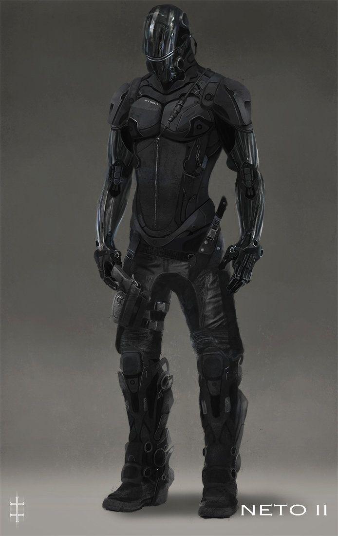 cyberpunk character co...