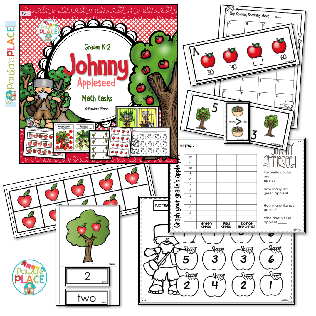 Johnny Appleseed Math Pack