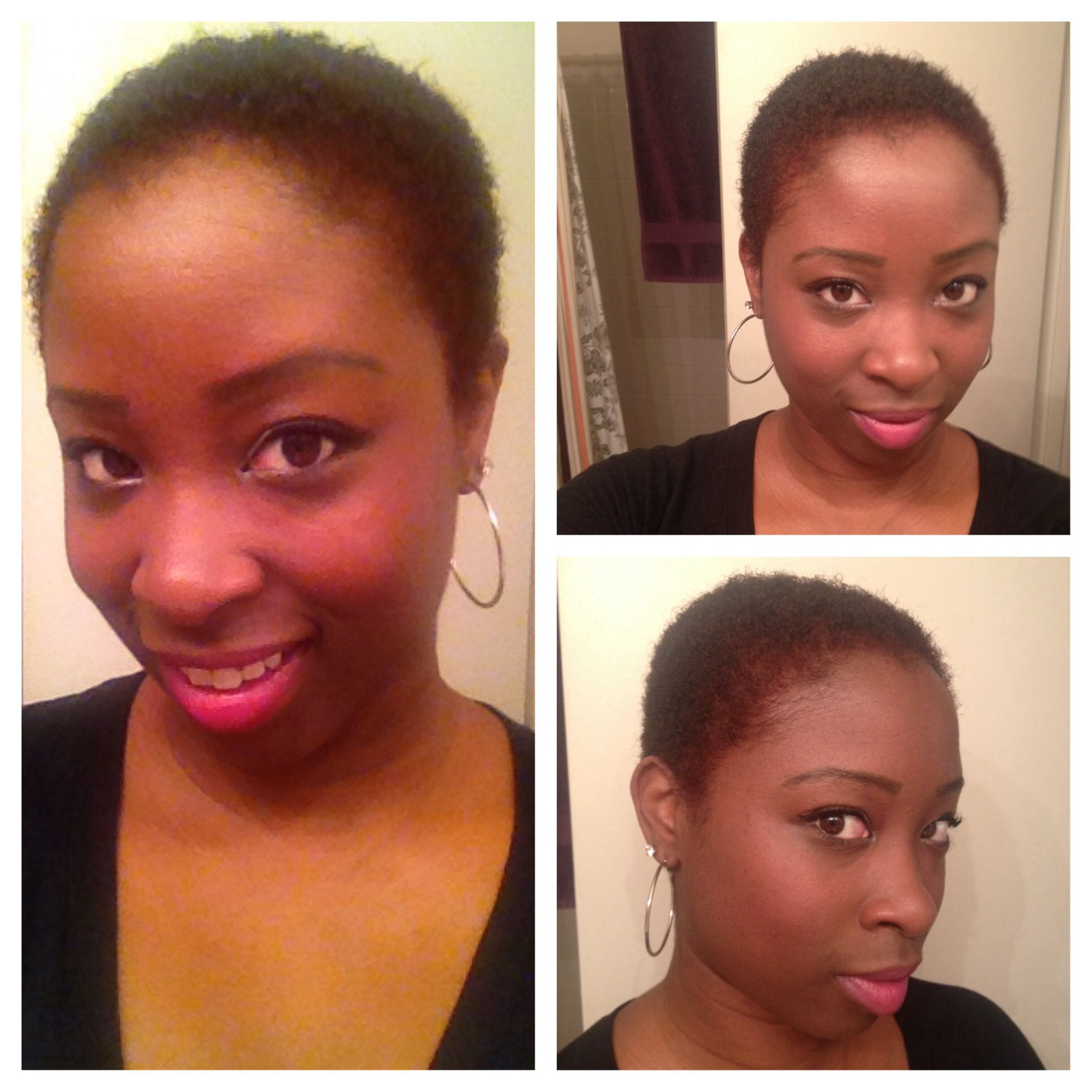 Did my big chop a little nervous at first but with some