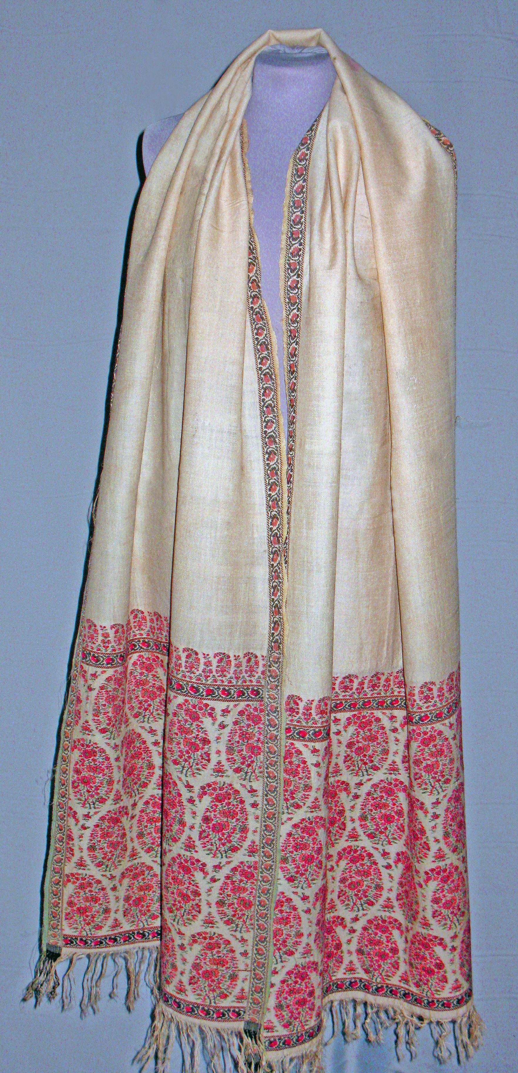 Shawl cashmere silk india kashmir shawls pinterest