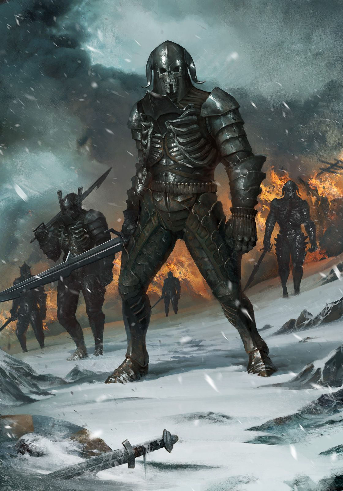 WildHuntWarriors Is An Official Concept Artwork For The Witcher 3 Wild Hunt Video Game Created By CD PROJEKT RED And GWENT Card