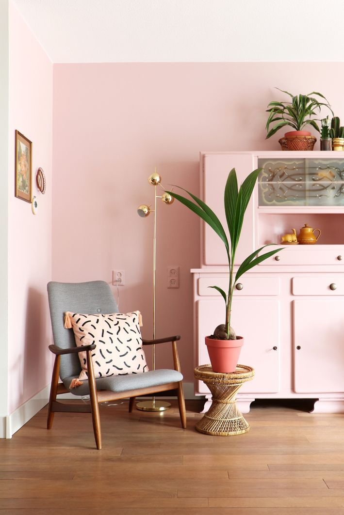 MY ATTIC / pink livingroom with Flexa / roze / make over Photography ...
