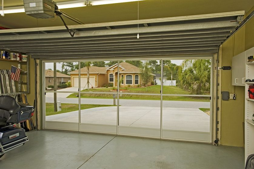 sliding screen garage door