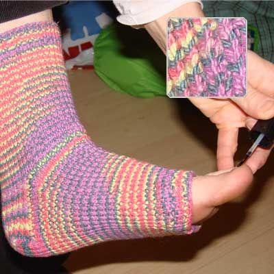 CROCHET PATTERN SOCK TOE - Crochet Club - CROCHETED DELICATE HDC ...