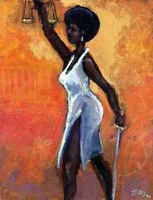 Image result for afro paintings court judge