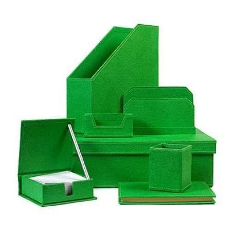 Arcadia Home Green Seven Piece Desk Set