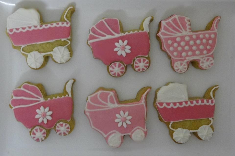 Pram Cookies by Cake Appreciation Society Member Theme My Party - See NSW Directory Listing at www.cakeappreciationsociety.com