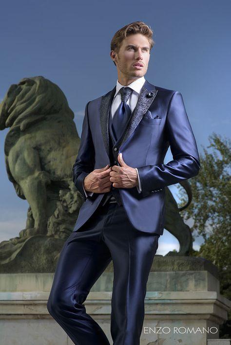Enzo Romano Traje De Novio Azul 671e2bc2604