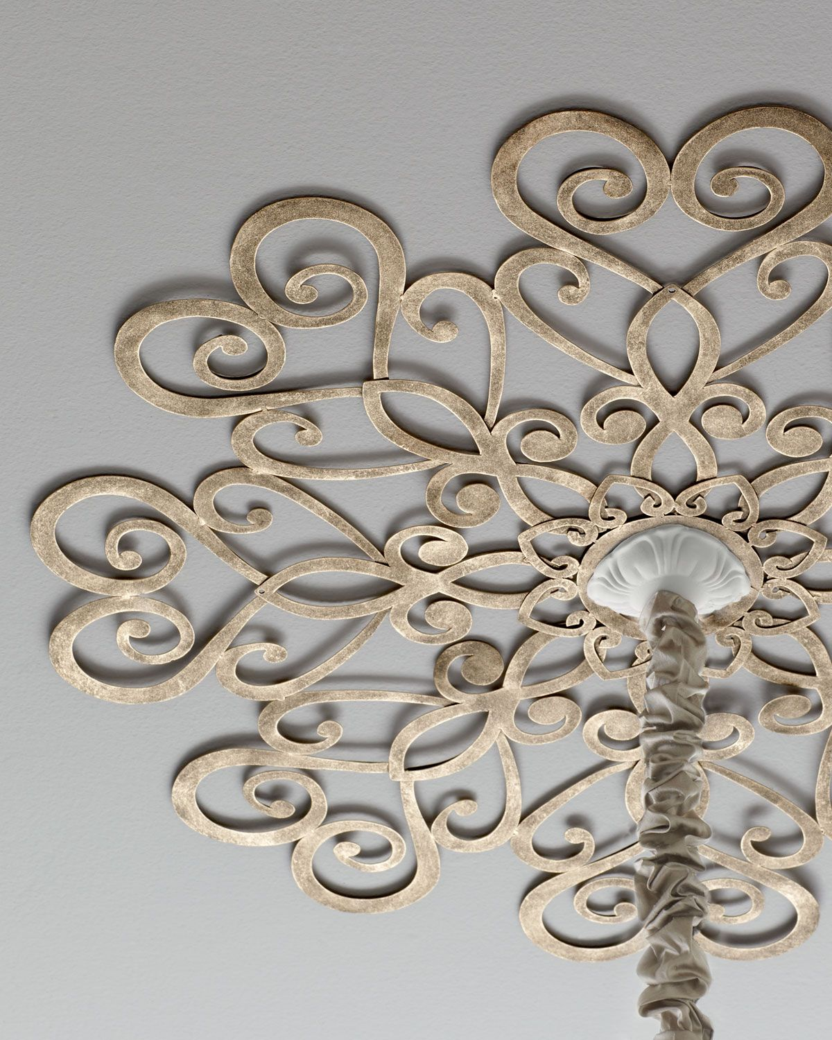 Scrolled Ceiling Medallion, Gold - Neiman Marcus | *Building ...