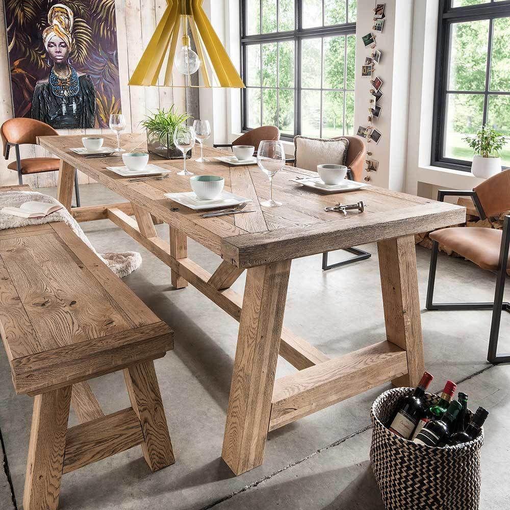 Massivholztisch Landhaus rustikal Asteiche Jetzt bestellen unter ...